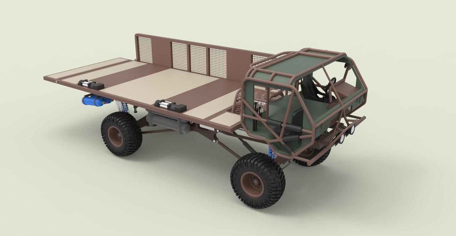 3D truck mongo fast diecast model