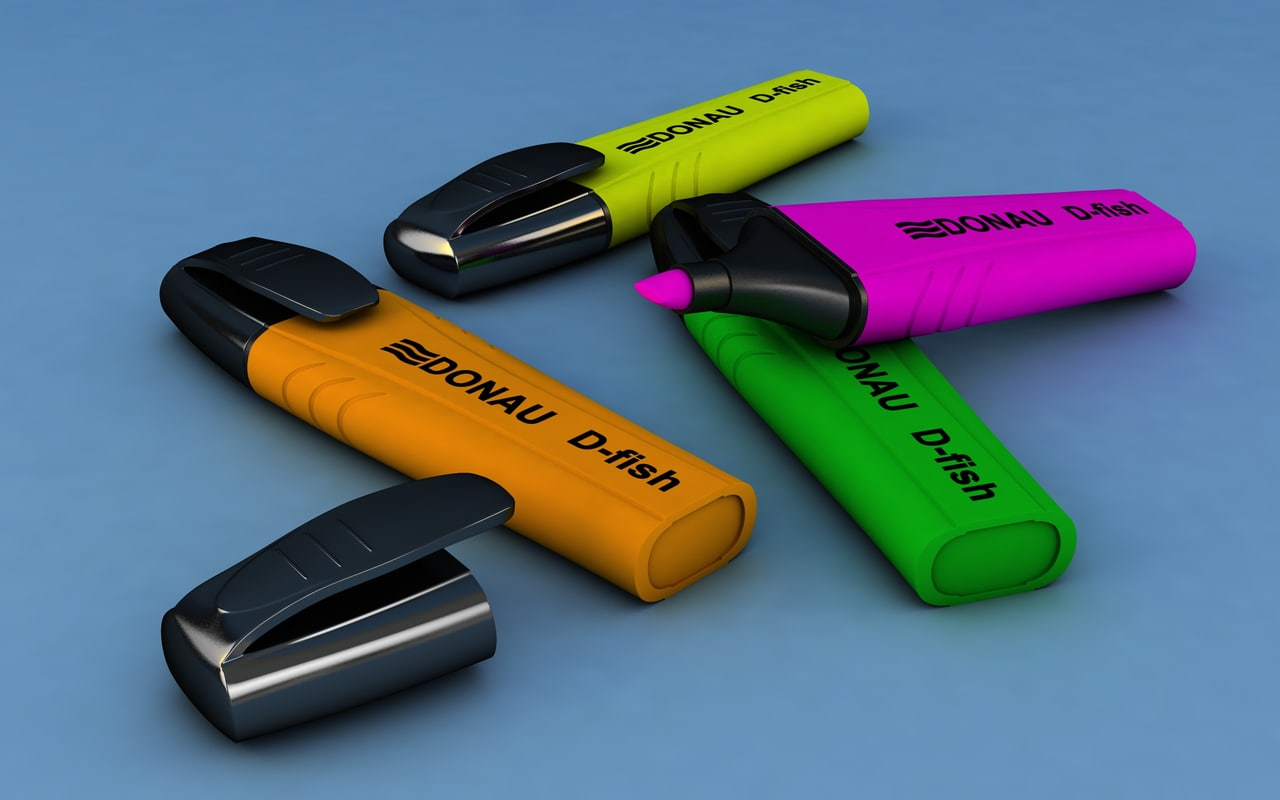 markers colors 3D model