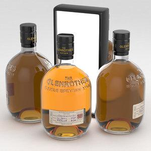 whisky glenrothes 3D