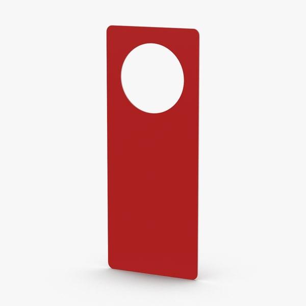 3D door-hangers- do-not-disturb