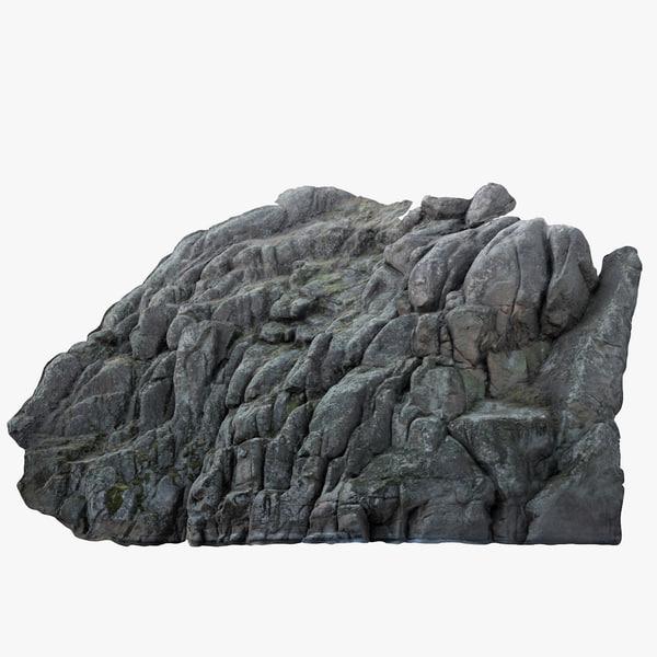 stone cliff 3D