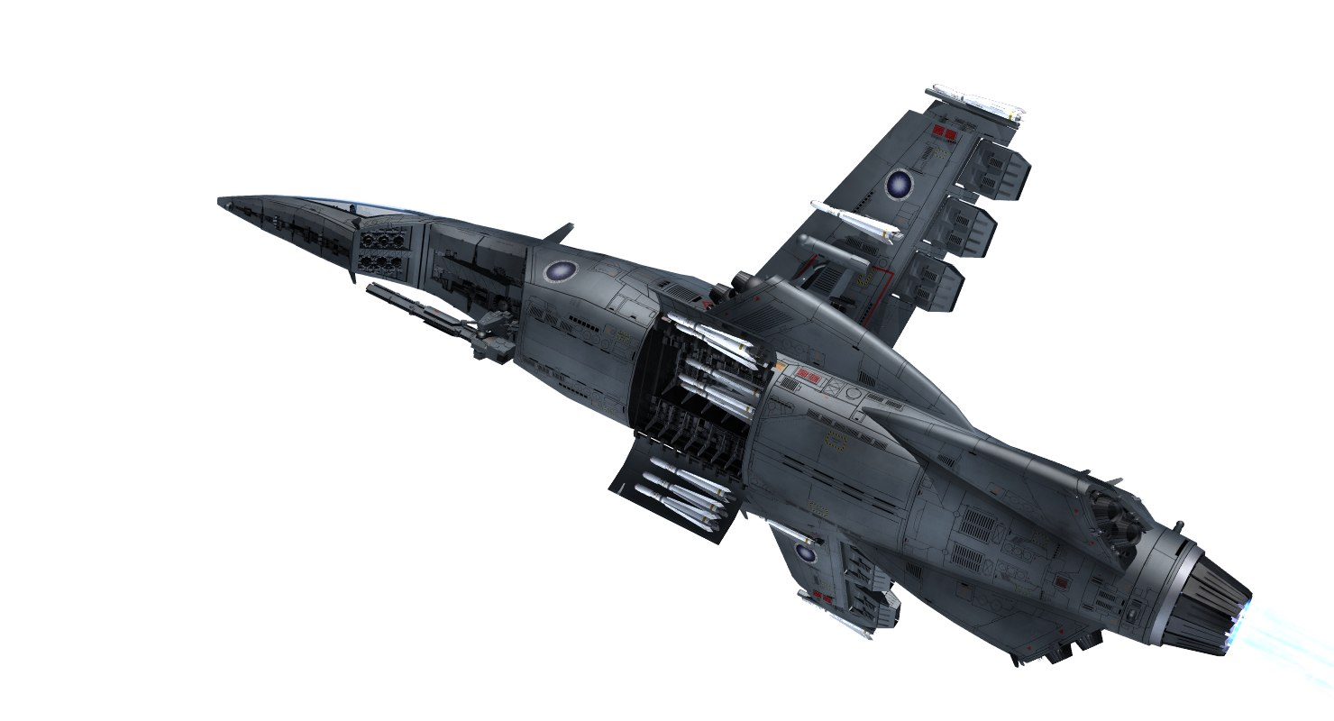 hornet space fighter 3D