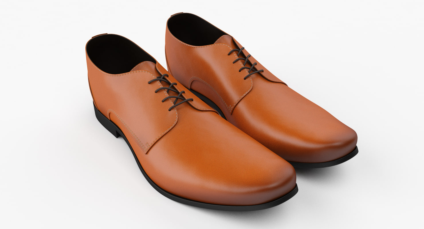 3D leather shoes model