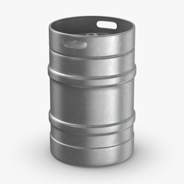 3D beer-keg- full-size model