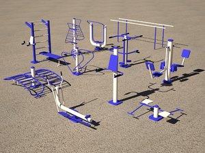 outdoor gym 3D model