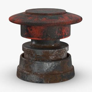 3D buttons-5-dirty model