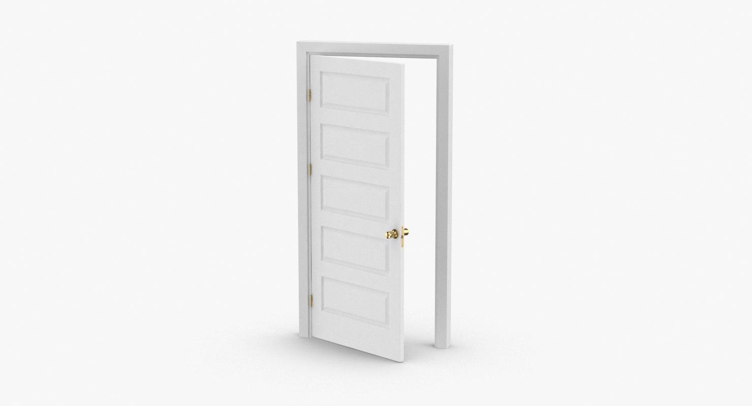 3D model interior-doors---door-5-ajar