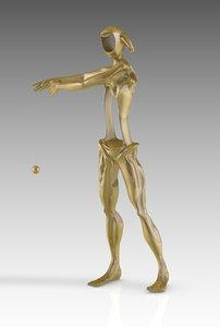 homage newton 3D model