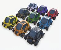cyberpunk minicar model