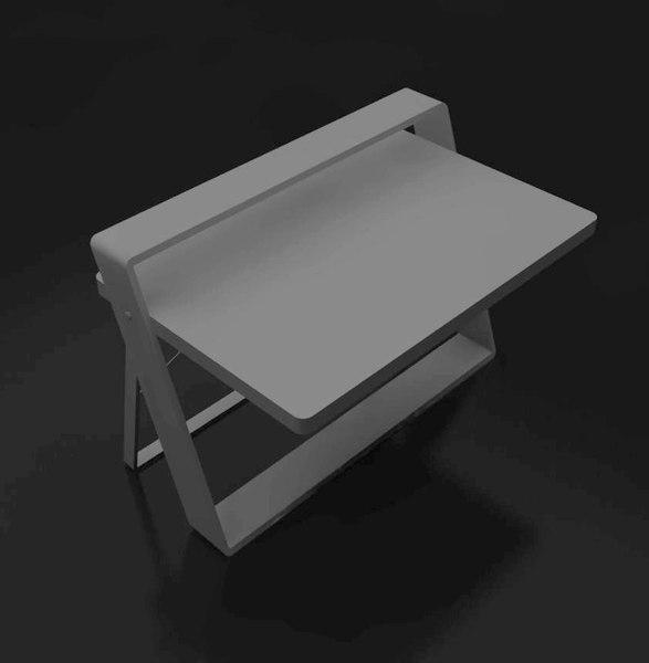 3D sketch den table