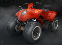 racing atv bike 3D model