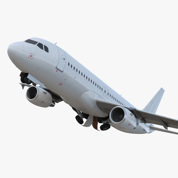 3D airbus a320 generic rigged model