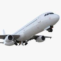 airbus a321 generic rigged 3D
