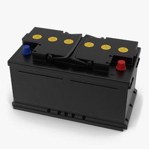 3D model car battery 12v
