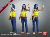 female student 21 30 3D model