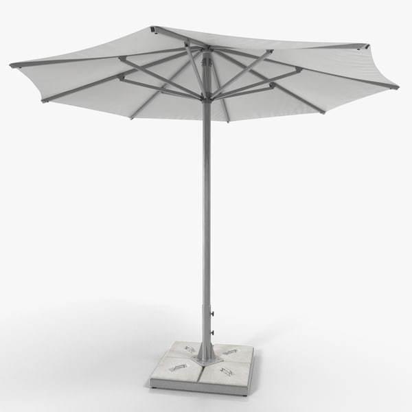 3D model patio umbrella