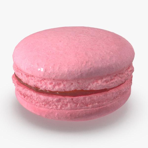 3D pink macaron