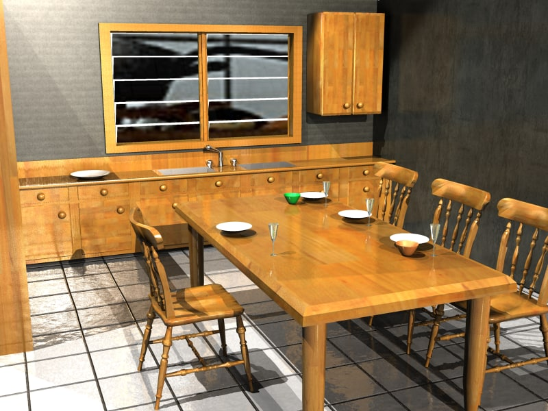 interior kitchen room 3D model