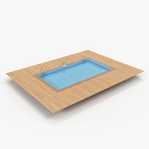 square swimming pool model