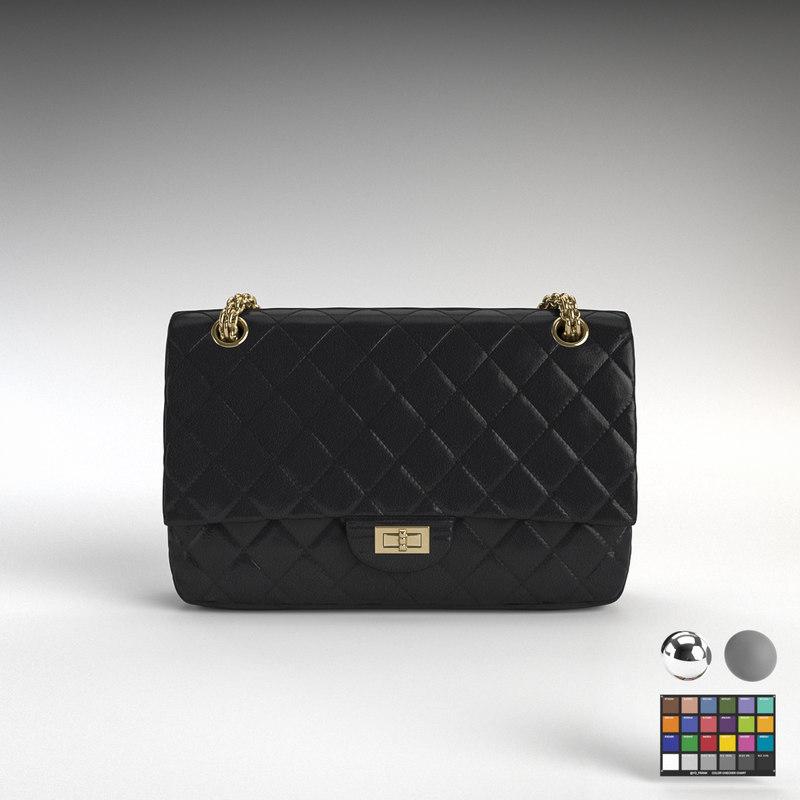 3d Chanel 2 55 Handbag Model