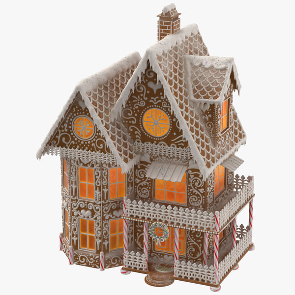 gingerbread house 3D