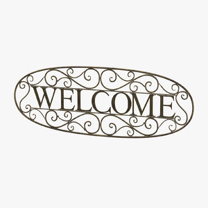 welcome sign 05 3D model