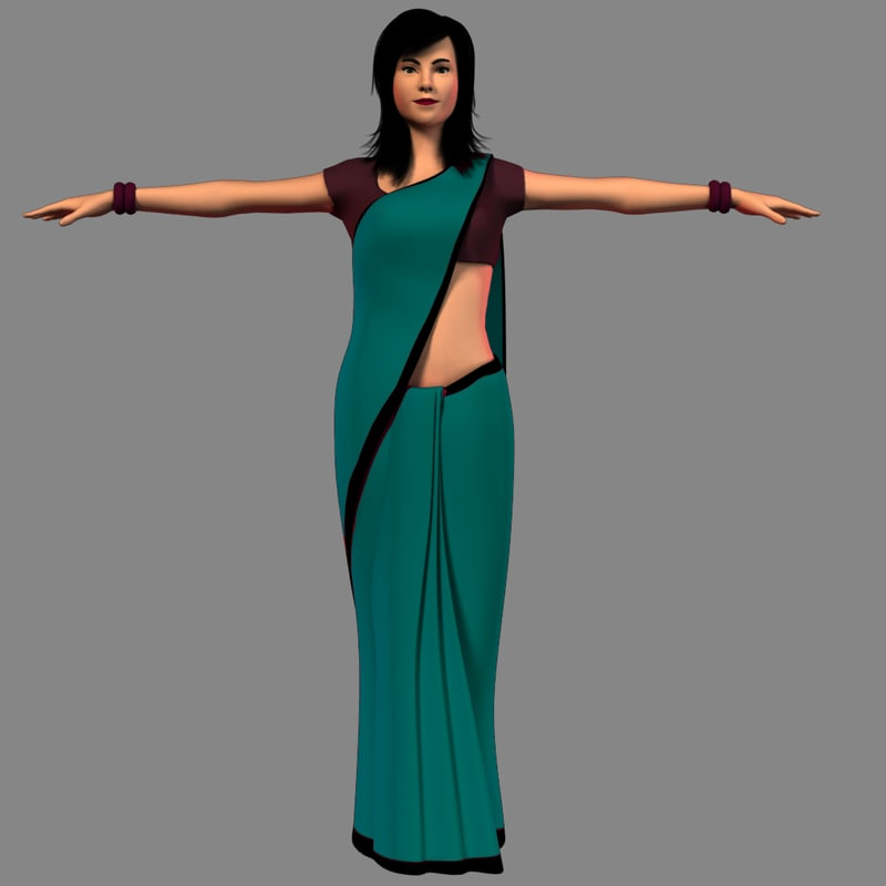 3D indian girl model