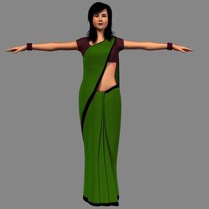 indian girl 3D model