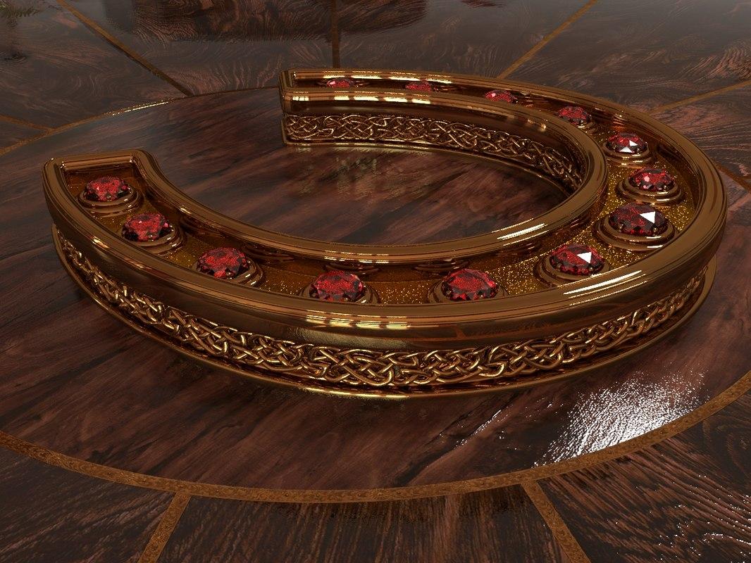 3D horseshoe ruby model