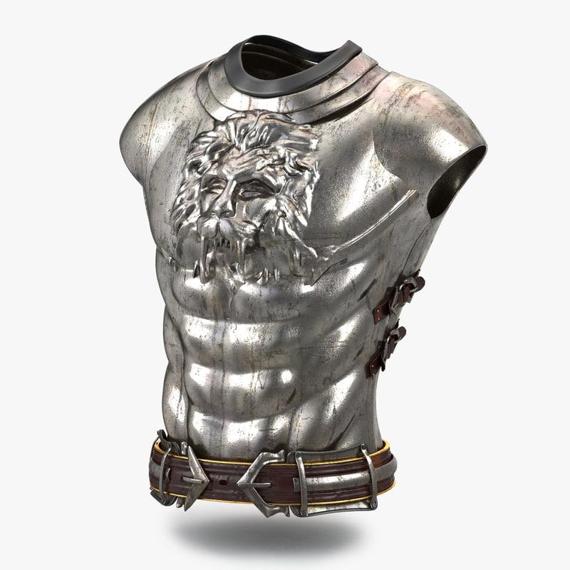 medieval boby armor v2 3D model