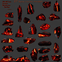 lava rock model