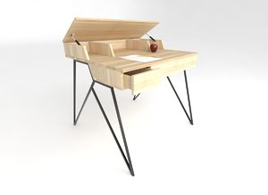 desk home office 3D