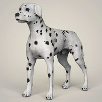 dalmation dog animation model