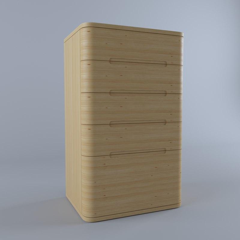 3D nightstand modern
