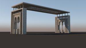 islamic style gateway 3D model