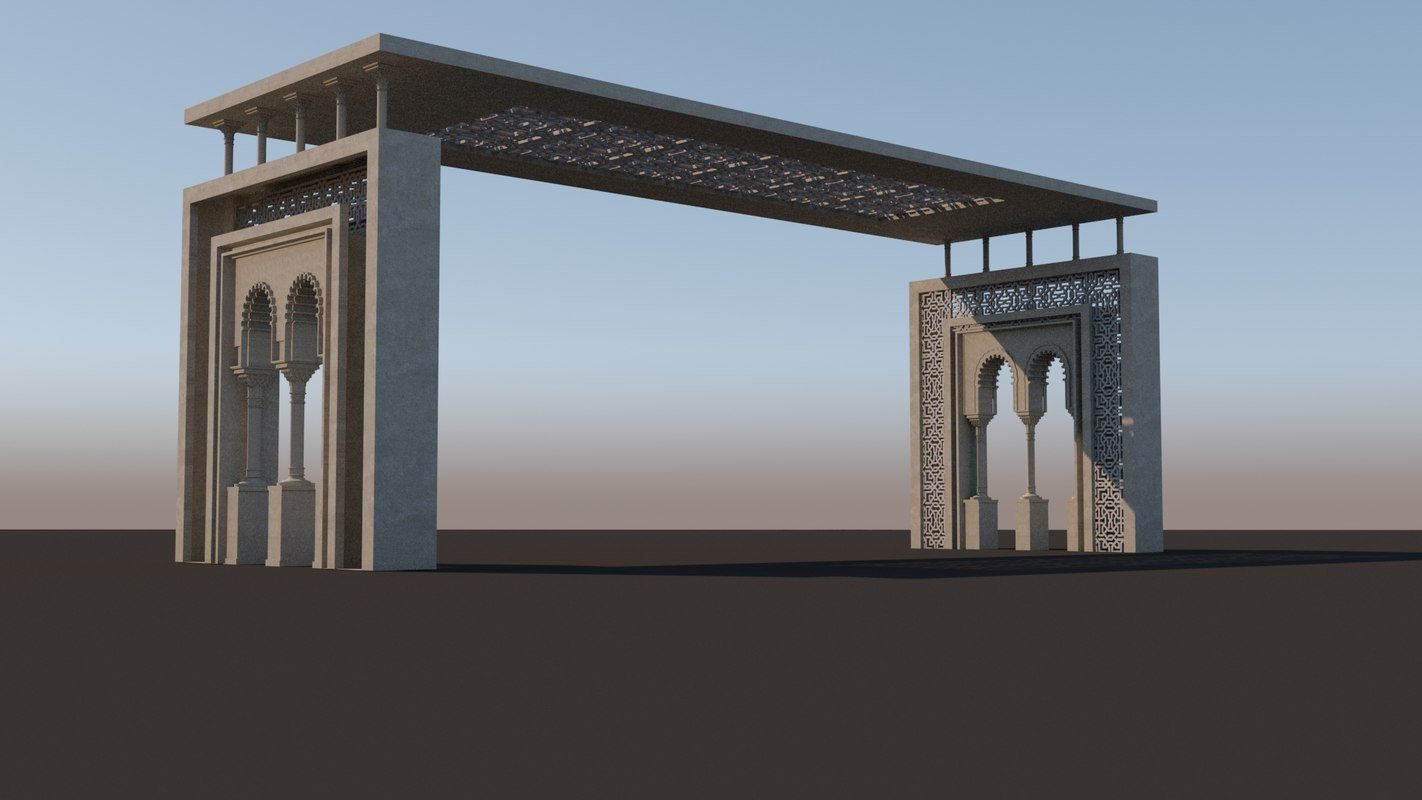 islamic style gateway 3D model