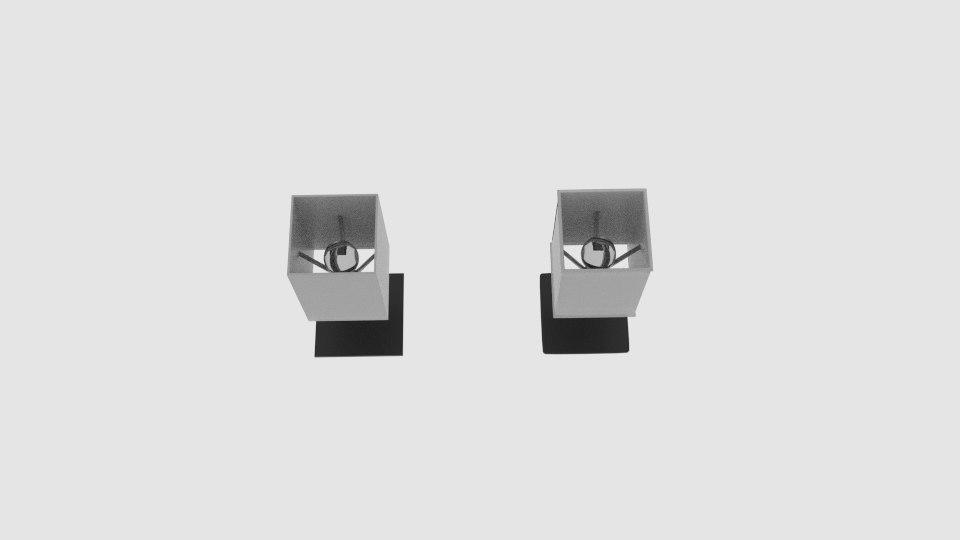 3D flat table steel lamp model