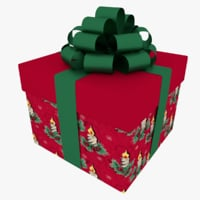 cubic gift box 3D model