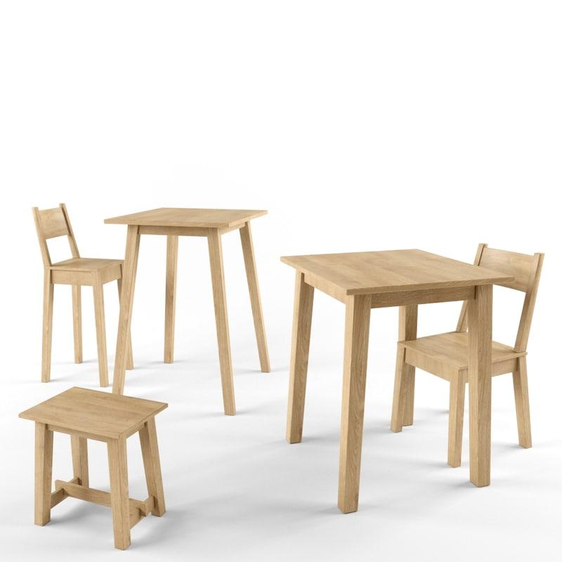3D ikea chair table