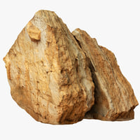 cracked limestone boulder model