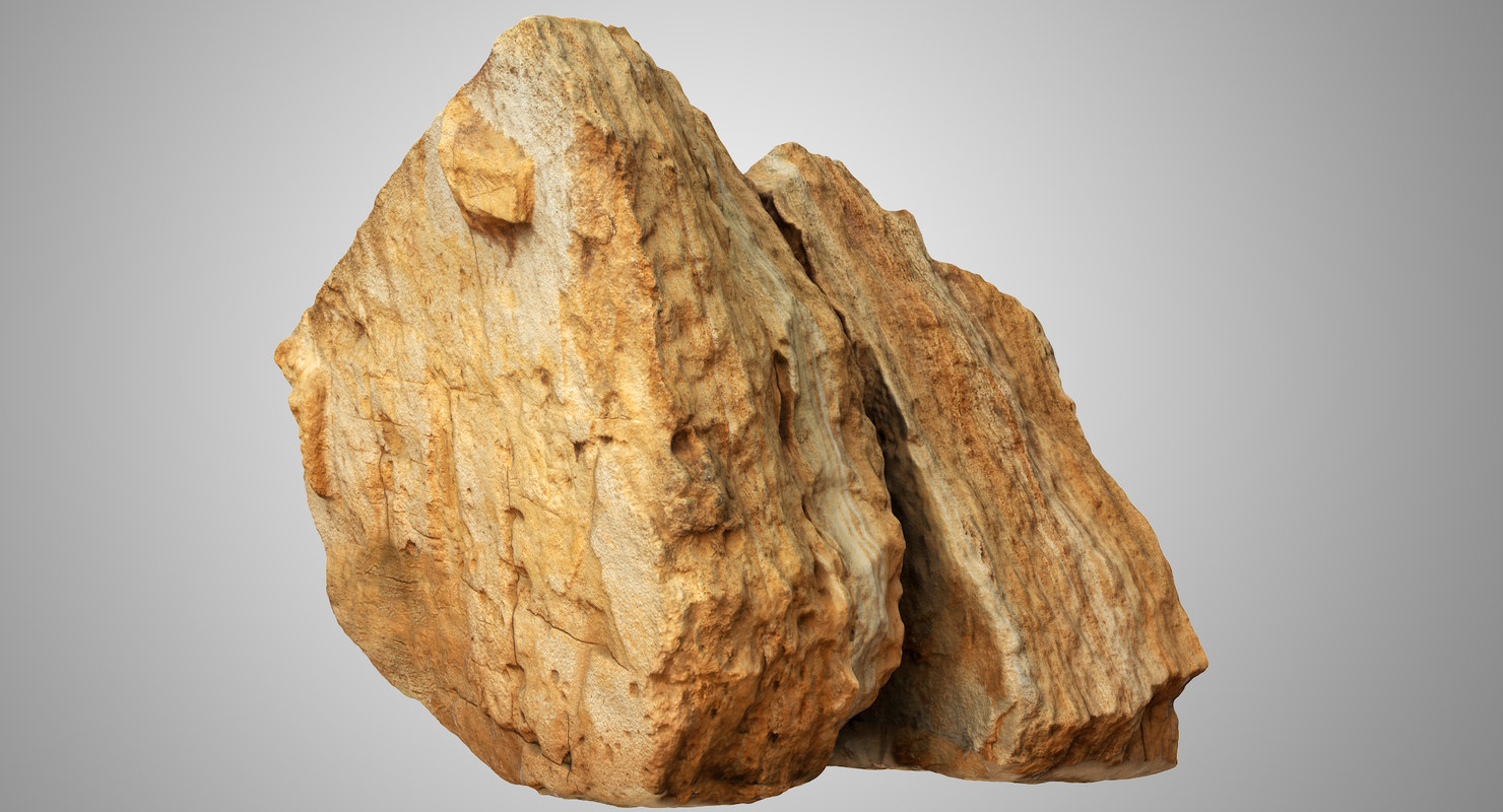 cracked limestone boulder model