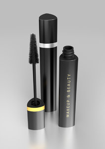 tube mascara brush s 3D model