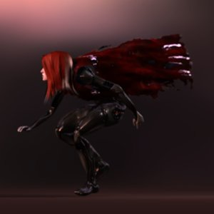 3D woman character model