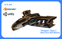 space ship dragon 3D
