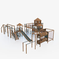 children playground outdoor 3D model