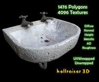 old sink 3D