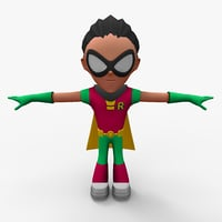 3D robin rigged rigg