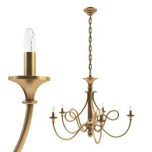 double twist large chandelier 3D