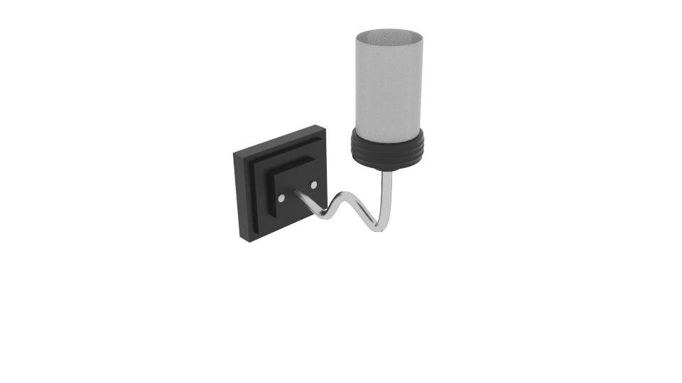 3D wall lamp steel curve