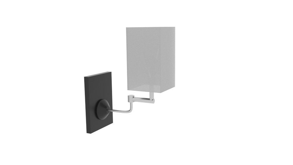 3D wall lamp curve square model
